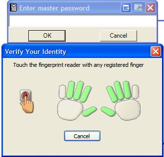 FingerPrintPasswordMinder