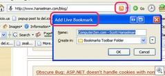 Firefox Livebookmark