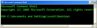 Microsoft Command Shell