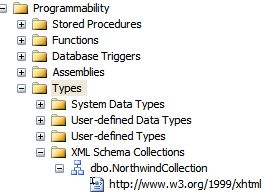 SQL 2005 XML Collections