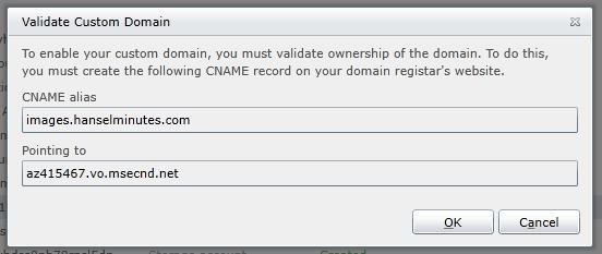 Pointing my custom domain to the CDN