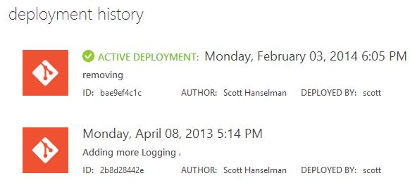 Two Deployments in Azure using Git