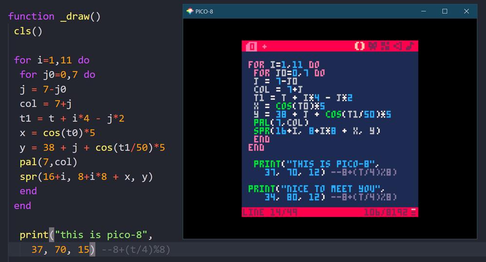 Editing Pico-8 code