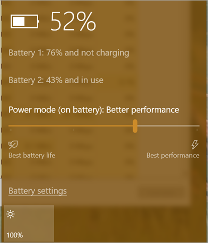 Power Mode Slider