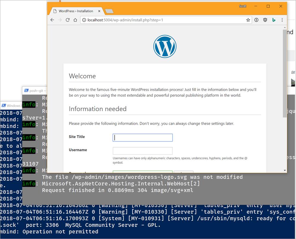 Wordpress under .NET Core