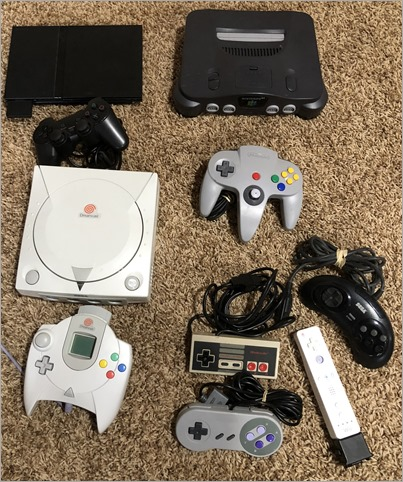 Just a few of my consoles. There's a LOT off screen.