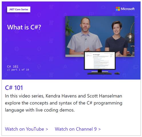 C# 101 videos