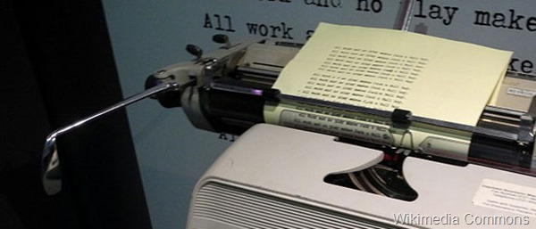 Typewriter picture via Wikimedia Commons