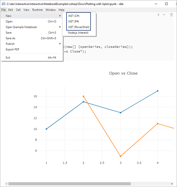 Charts and graphs in nteract