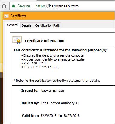 A Let's Encrypt SSL Cert