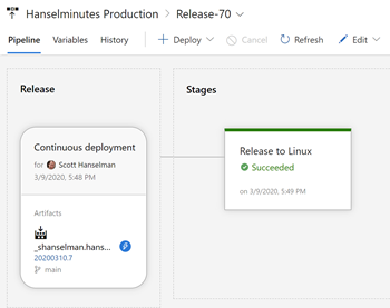 Azure Pipelines releasing to Linux