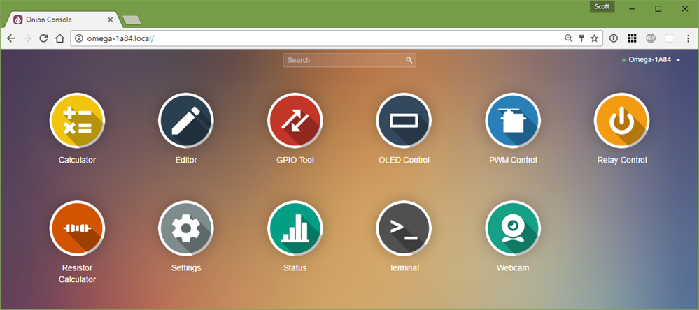 Onion Omega has a very polished Web UI