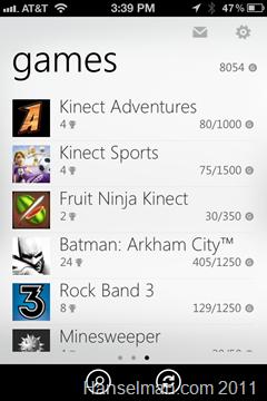 Xbox Achievements on iPhone