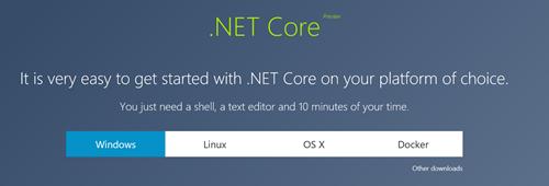 .NET Core at http://dot.net