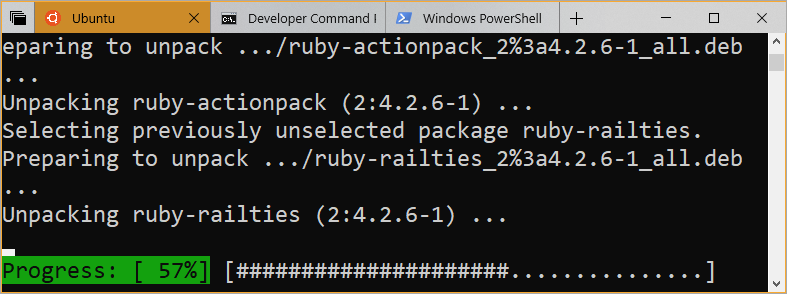 Tabbed Command Prompts