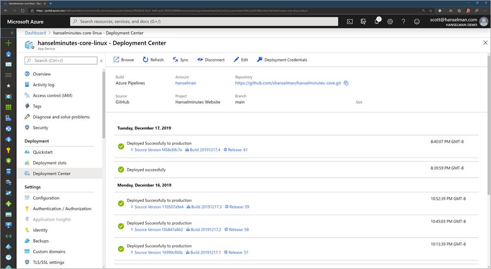 Azure Portal and DevOps integration