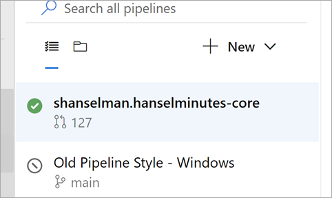Two pipelines side by side
