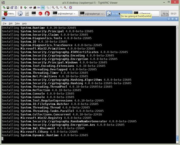 Running kpm restore on Raspberry Pi