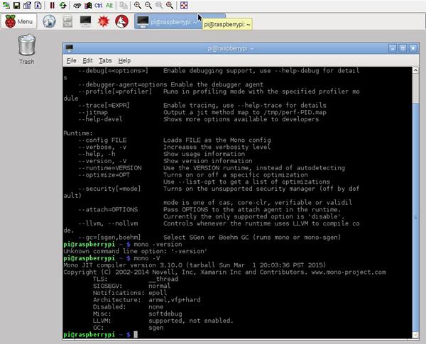 Mono 3.10.0 on a Raspberry PI