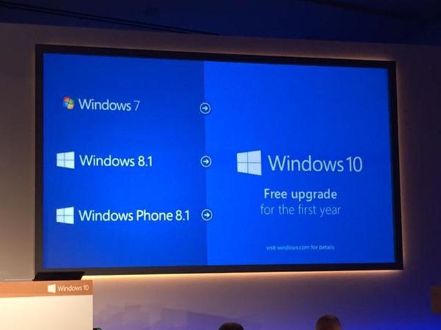 Windows 10 upgrade will be free