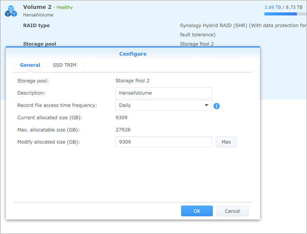 Making a 21TB Synology Storage Pool