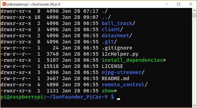 Installing the PiCar dependencies
