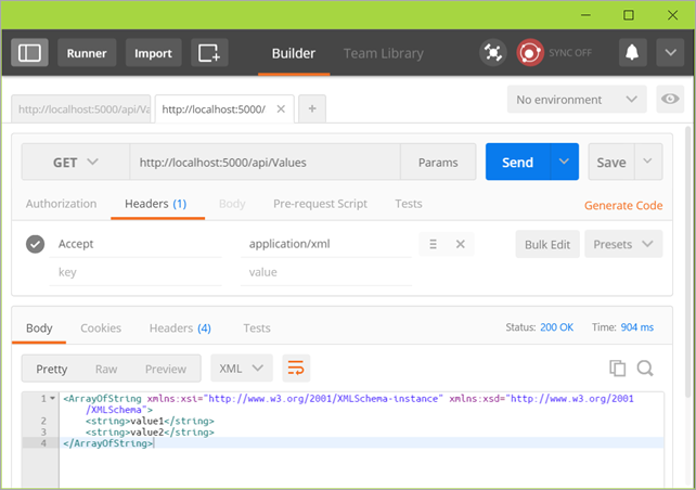 Postman is a great way to explore WebAPIs