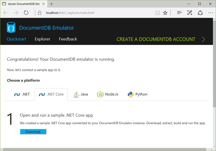 Nice DocumentDB Quick Start