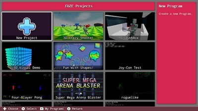 Lots of Programs come with FUZE4 Nintendo Switch