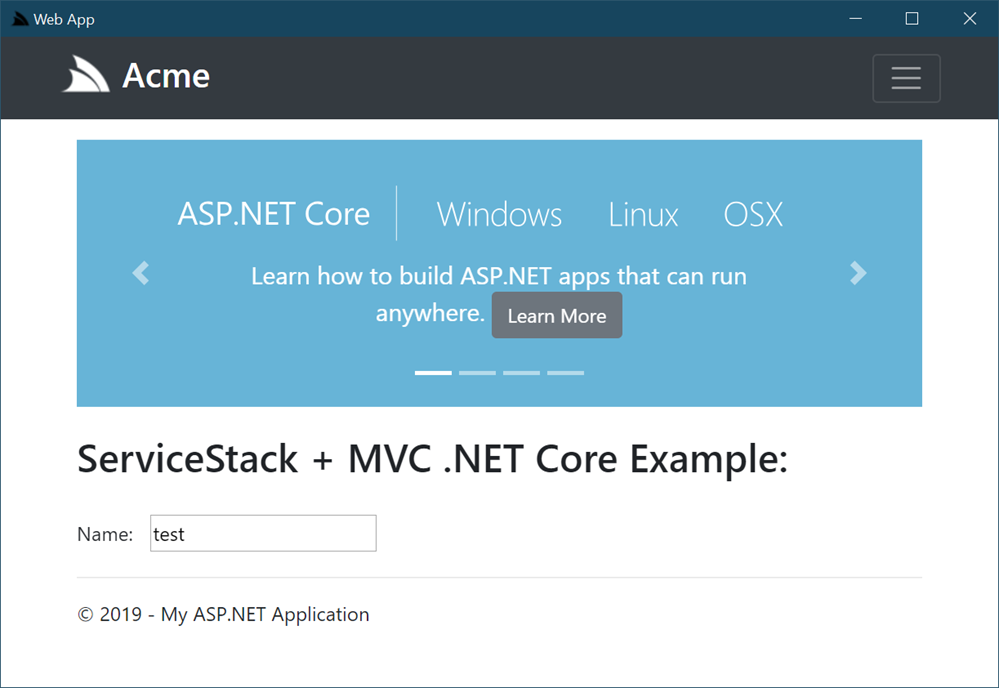 ServiceStack CEF App