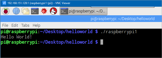 Hello World on a Raspberry Pi