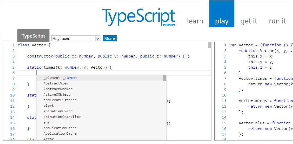 The TypeScript Playground