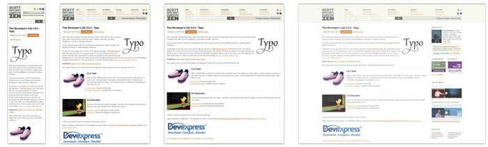 My site's responsive design, as featured on the MediaQueri.es site