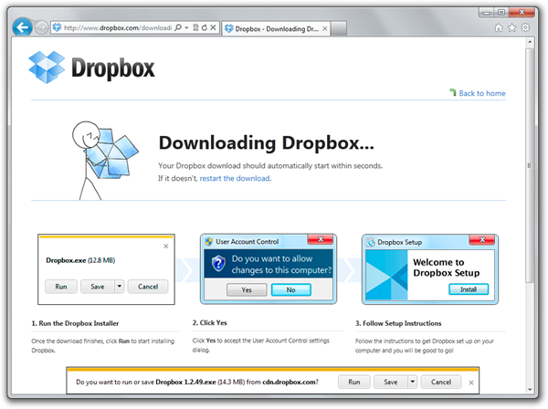 Dropbox - Windows Internet Explorer