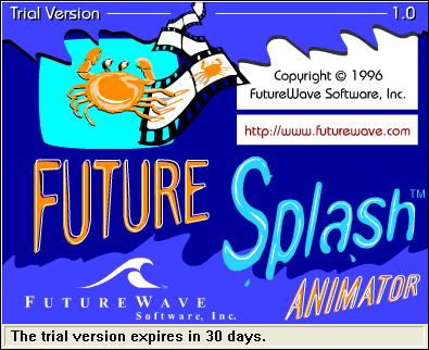 FutureSplash Animator, ahem, Splash Screen