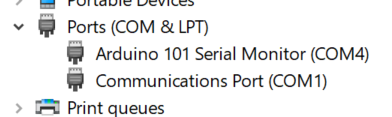 Arduino is on COM4