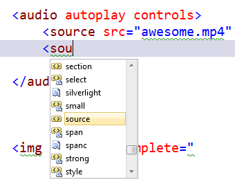 Adding an Audio Tag