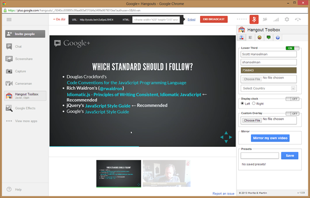 Google Hangouts On Air