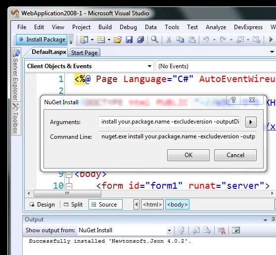 NuGet in Visual Studio 2008