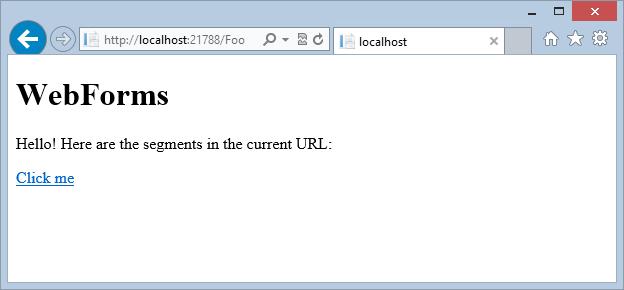 A basic Foo WebForms page