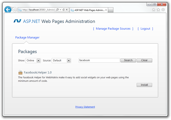 ASP.NET Web Pages Administration - Package Manager - Windows Internet Explorer (58)