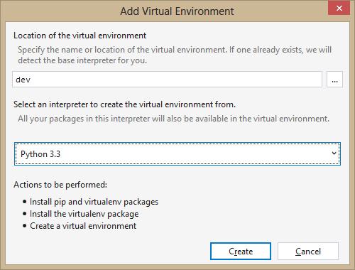 Adding a Virtual Python Environment