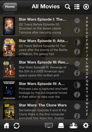 Plex movies on iPhone