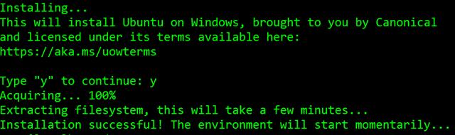 Installing Ubuntu on Windows