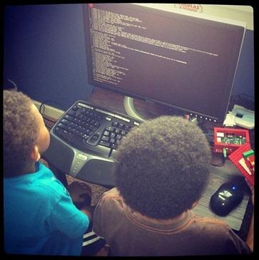 Little boys on the Raspberry Pi