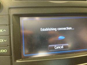 Entune Establishing Connection