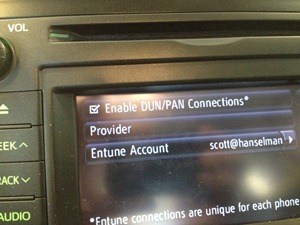 Enter your Entune account details