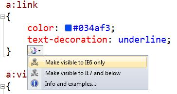 Enabling evil with IE6 hacks