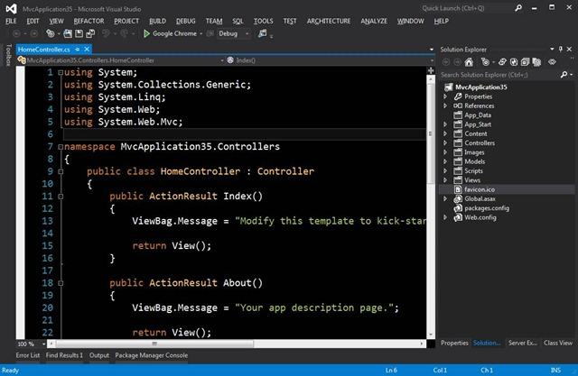 My Visual Studio Dark Theme
