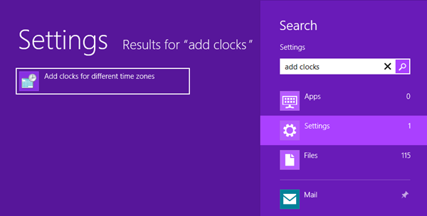 You can already search settings for ALL these Control Panel tasks